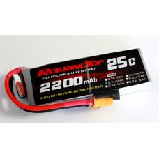 25C 2200 mAh 3S with XT60/EC3/DEANS Plugs