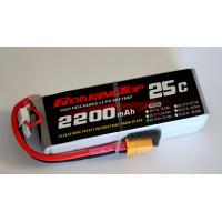 25C 2200 mAh 4S with XT60/EC3