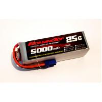 25C 5000 mAh 6S with EC5 Plugs