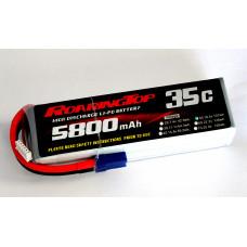 35C 5800 mAh 5S with EC5 Plugs