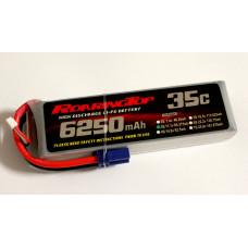 35C 6250 mAh 3S with EC5 Plugs