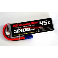45C 3300 mAh 3S with EC5 Plugs