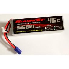 45C 5500 mAh 6S with EC5 Plugs