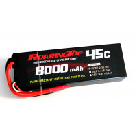 45C 8000mAh 2S2P (Hard Case) with Lead Wires Out and Bare End