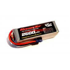 45C 2600 mAh 6S with EC3/Deans Plugs