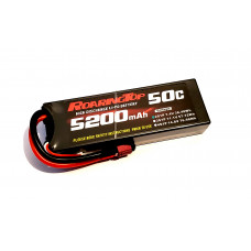 50C 5200mAh 2S1P (Hard Case) with Lead Wires Out and Deans Plug