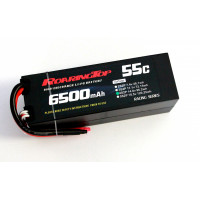 55C 6500mAh 4S2P (Hard Case) with Lead Wires Out and Bare End