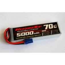 70C 5000 mAh 2S with EC5 Plug