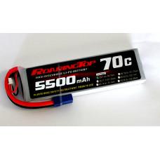 70C 5500 mAh 2S with EC5 Plugs