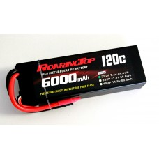 120C 6000mAh 2S2P (Hard Case) with Lead Wires Out and Bare End