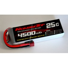 25C 4500 mAh 4S with Deans Plugs